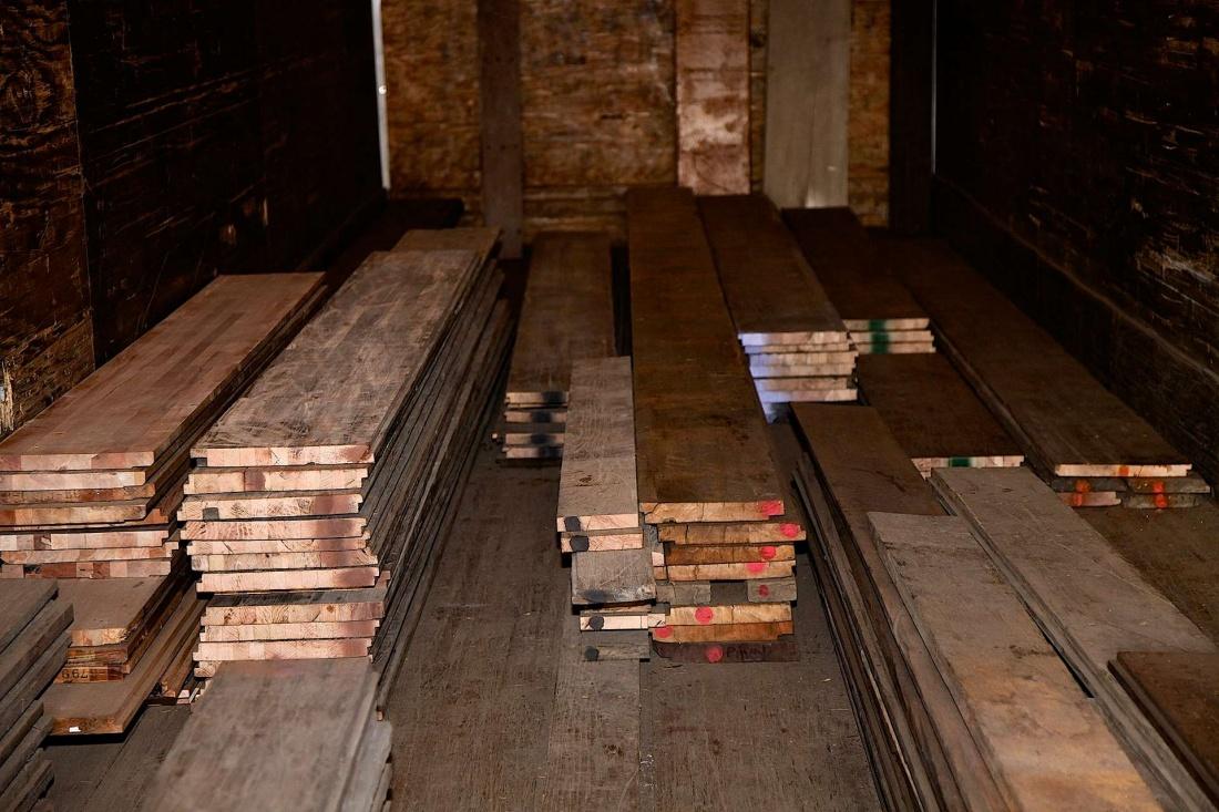 Reclaimed semi trailer flooring yci hardwood